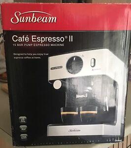 Espresso machine sunbeam cafe in queensland gumtree australia sunbeam cafe espresso ii 15 bar pump espresso machine fandeluxe Images