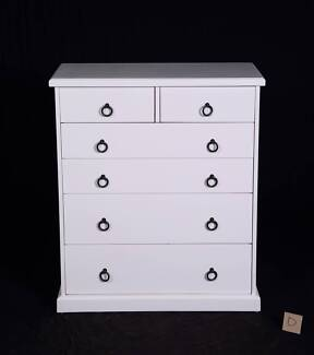 Lovely Hampton's Style newly painted 6 drawer chest-Del.Available
