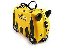 Yellow trunki suitcase