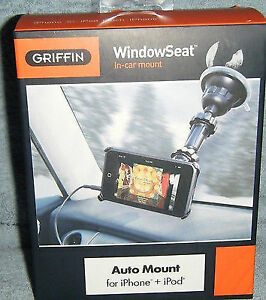 NEW Black iPhone/IPod Touch Griffin Window Seat Windshield Mount
