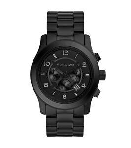 40c2219db6bb Michael Kors Mens Runway Black Chronograph Watch MK8157 for sale ...