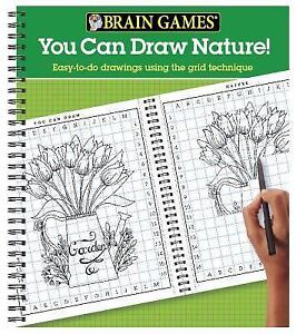 Brain Games You Can Draw Nature Easy To Do Drawings Using The Grid Technique 2017 Spiral