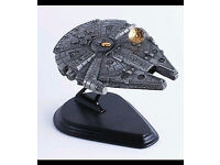 Franklin Mint Pewter Star Wars Millennium Falcon with Stand (RARE)
