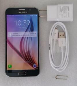 Samsung Galaxy S6 SM-G920W8 32GB Black Unlocked Smartphone 30 Days Warranty B stock…