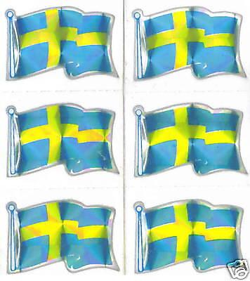 Sweden Konungariket Sverige Flag Mini-Stickers LOT NEW