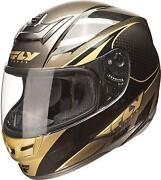Gold Full Face Motorcycle Helmet