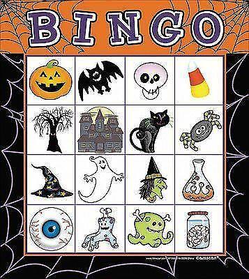 Bingo Halloween Gothic Party Game