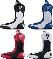 Chaussure de Boxe Title rouge-bleu-blanc-noir grandeur 6 a 13