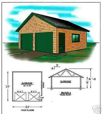 24x24 garage home garden ebay 24x24 house plans