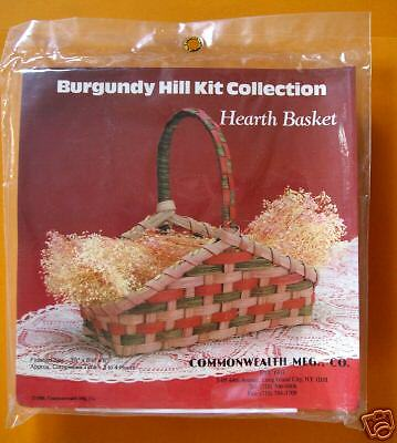 Hearth Basket Making Kit New Burgundy Hill