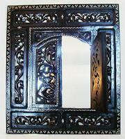 Elaborate Hand Carved Wooden Islamic Style Mirror from Lombok