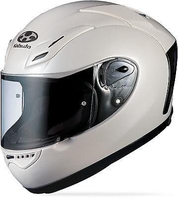 Kabuto FF-5V Pearl White Aerodynamic Full Face Motorcycle Racing Helmet L size