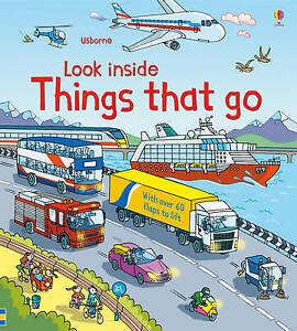 Look Inside: Things That Go Board Usborne 9781409550259