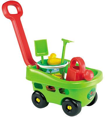 Handwagen mit Gartenzubehör Sandspielzeug Gießkanne Kinder Spielzeug