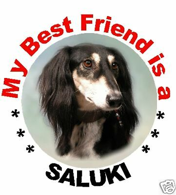 2 Saluki Car Stickers By Starprint