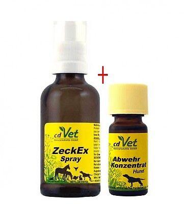 cdVet Zeckenpaket ZeckEx 50ml + Abwehrkonzentrat 10ml (49,75€/100ml)