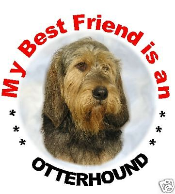 2 Otterhound Car Stickers By Starprint - Auto combined postage