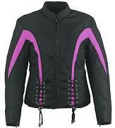 Womens Purple Motorcycle Jacket
