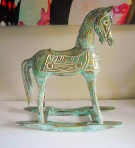 Balinese Carved Wooden Rocking Horse Southport Gold Coast City Preview