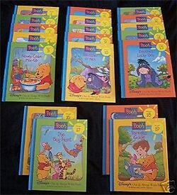 Disney's Out and About with Pooh (19 volume set) Hardcover new condition