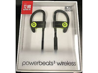 Beats by Dre Powerbeats 3 Shock Yellow Bluetooth Sealed