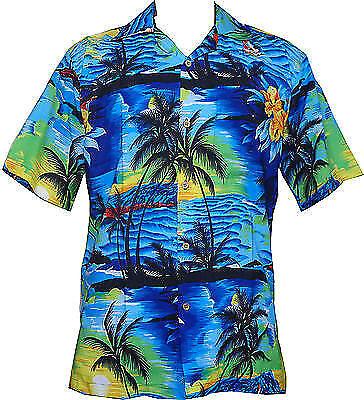 Hawaiian Shirt Mens Allover Print Beach Camp Party Aloha - Aloha Printing