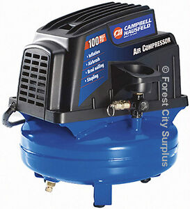 JUST LIKE NEW - 1 GALLON CAMPBELL AIR COMPRESSOR - USA SURPLUS !