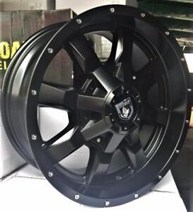 2 color options - NEW!! 17X8 INCH WHEELS AND LT265/70R17 10 PLY E RATED A.T. TIRES! dodge ram CHEVY GMC 2500 3500 - 861
