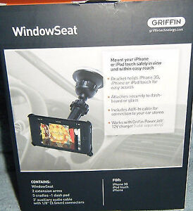 NEW Black iPhone/IPod Touch Griffin Window Seat Windshield Mount London Ontario image 2