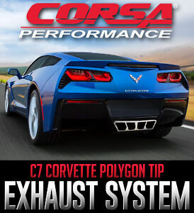 CORSA Exhaust with Polygon Tailight Tips for C7 Corvette