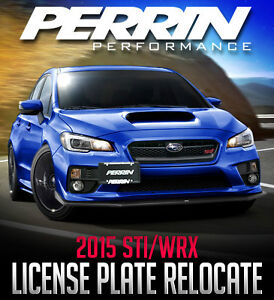 PERRIN Performance License Plate Relocation Kit - 2015 WRX/STI