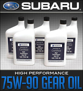 Subaru High Performance Gear Oil 75W90 - Available by the Quart!