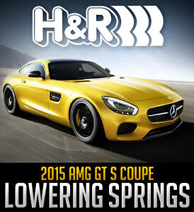 H&R Sport Lowering Springs: 2015 AMG GT S Coupe