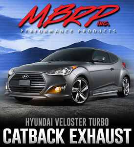 MBRP Hyundai Veloster Turbo Catback Exhaust - Limitless Motors
