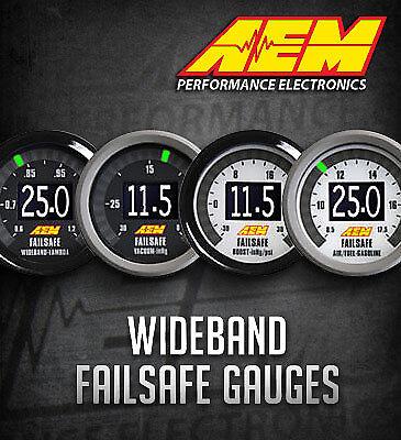 Genuine AEM Failsafe Wideband AFR Air Fuel Ratio & Boost Gauge Sensor # 30-4900