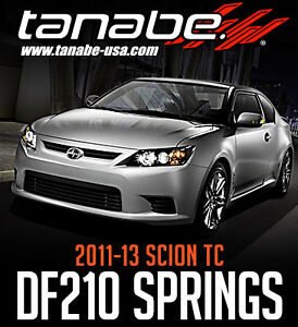 Tanabe DF210 Lowering Springs for 11-13 Scion TC - Limitless