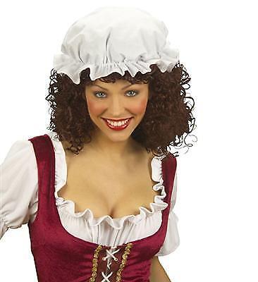 Schlafhaube Mittelalter Magd Haube Mütze zum Kostüm Bäuerin - Mittelalter Magd Kostüme