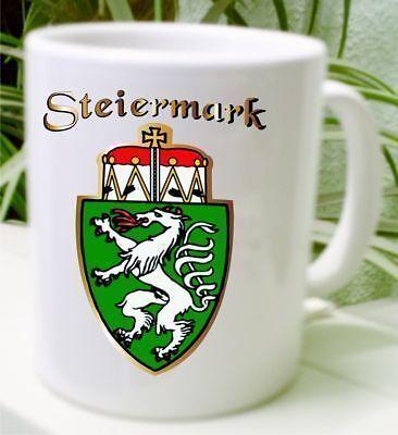 Wappen Kaffee Tasse Österreich Steiermark Geschenkidee