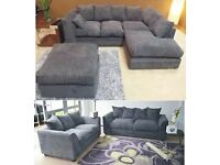 DYLAN JUMBO CORD CORNER AND 3+2 SEATER SOFA AVAILABLE IN STOCK ORDER NOW