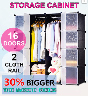DIY 16XL Cube Storage Cupboard Cabinet Wardrobe Shoe Rack