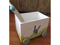 Toy box storage cart with matching Duvet Cover for cot or toddler bed