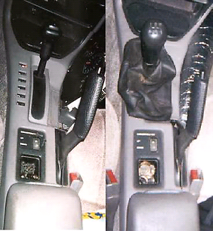 Swap automatic car to manual