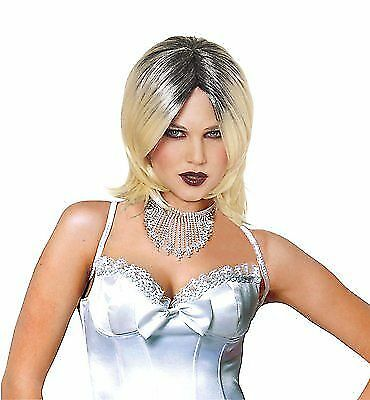 Costume Culture Evil Bride Of Chucky Blonde W/ Black Halloween Cosplay Wig 21070