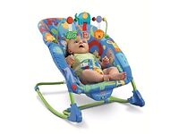 Fisher Price deluxe baby to toddler rocker chair with vibrations and activity bar