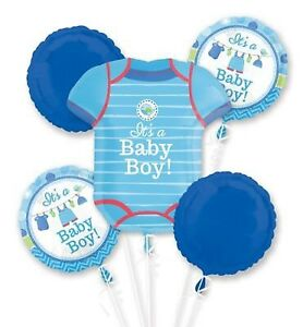 Baby boy shower foil balloon