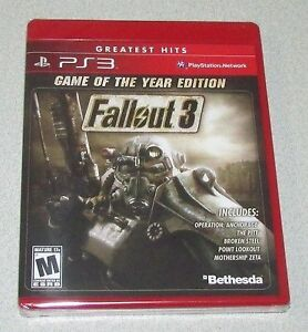 Fallout 3 game of the year GOTY PS3
