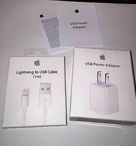 Brand New Apple Lightning Cable and USB power adapter