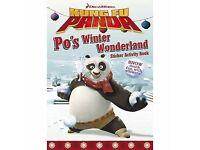 ***NEW***Dreamworks Kung Fu Panda Sticker Book (Po's Winter Wonderland)