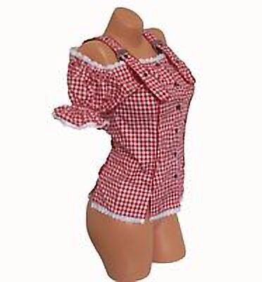 Gorgeous Red &White Gingham,Checked Blouse,Top,Oktoberfest, Rockabilly sz 26in CaerphillyGumtree - Gorgeous red and white gingham blouse bought from Germany for Oktoberfest but never worn (new without tags because didnt come with any) It didnt come with the ribbon but the loops (in the blouse fabric) were there so I added it if not liked the...
