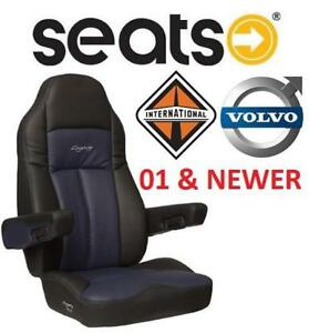 NEW* LEGACY LEGACY TRUCK SEAT - 122320338 - INTERNATIONAL  VOLVO 2001+ AND NEWER BLUE BLACK LEGACY SILVER